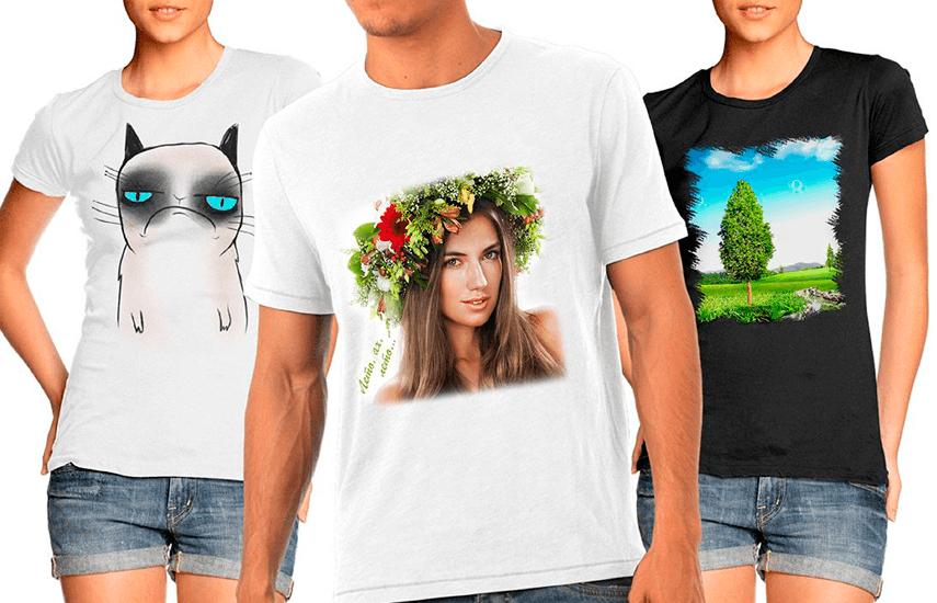 молодая примеры украшения футболки картинкой природа изображения получаются путем
